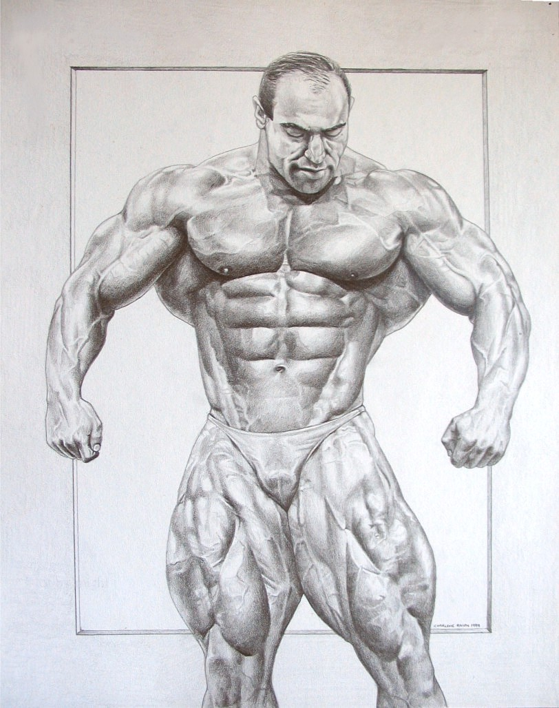 how to draw a bodybuilder